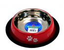 Stainless Steel Bowl with Paws and Bones 11 cm