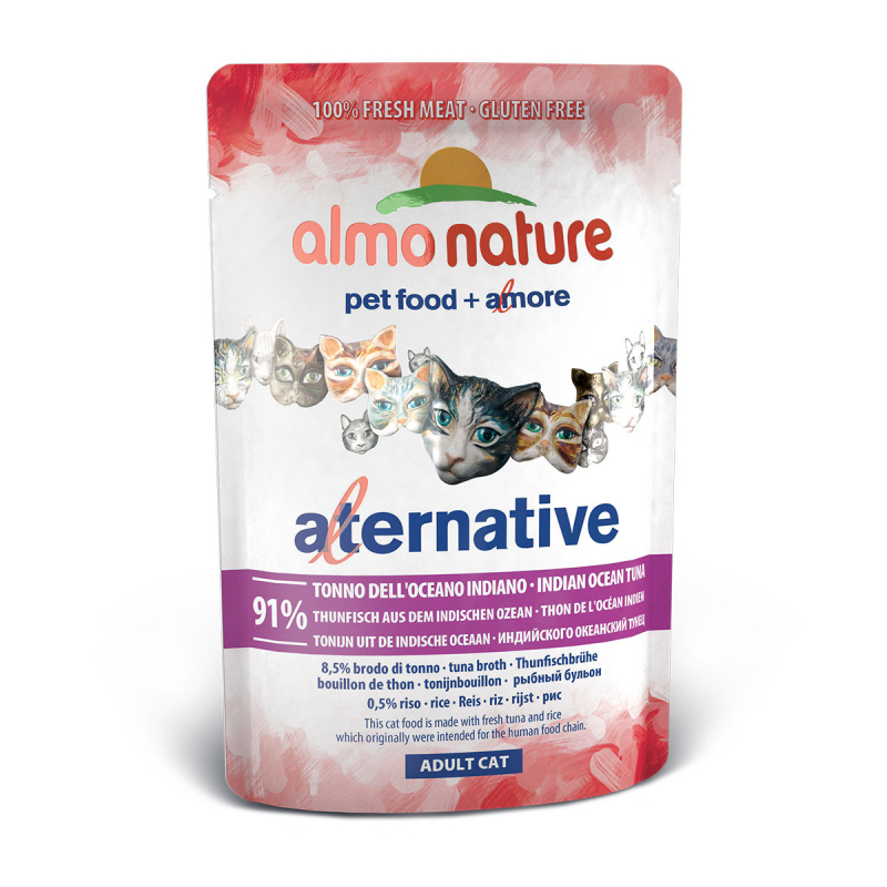 Almo Nature Alternative With Indian Ocean Tuna 55 G Wet Cat Food
