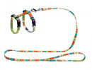 Cat harness and leash set Stripes 120x1 cm