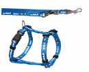 Puppy Harness with Leash, blue - EAN: 4011905153421