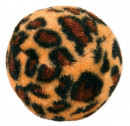 Trixie Set of Toy Balls with Leopard Print, Plastic