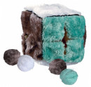 Trixie Plush Cube with 4 Catnip Balls 14x14x14 cm