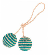 Two Balls on a Rope, Sisal 4.5 cm