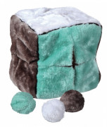 Trixie Cube with 4 Play Balls, Plush 21 cm