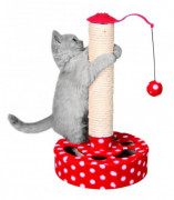 Trixie Scratching Post, red/white 45 cm