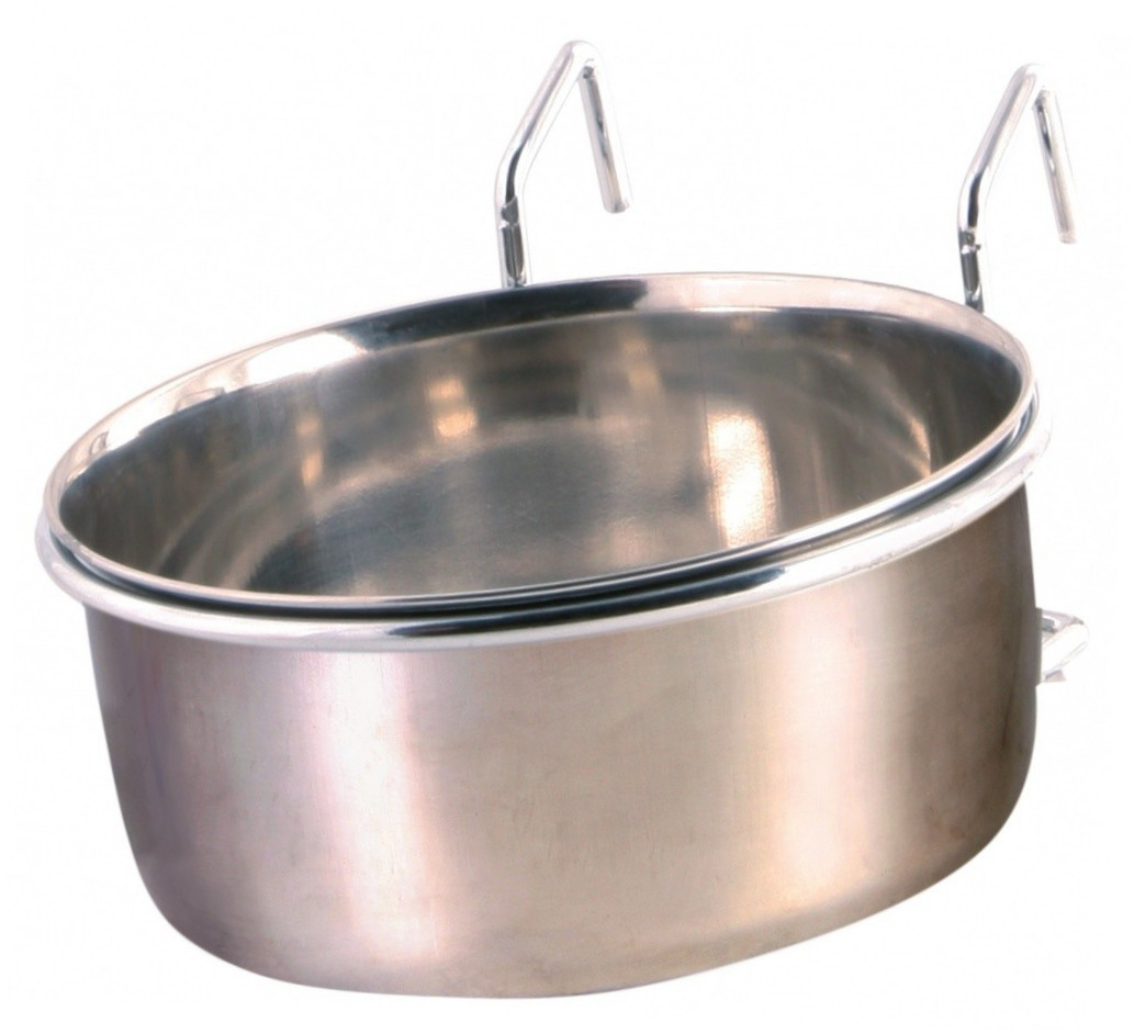 Trixie Stainless Steel Bowl with Holder 600 ml