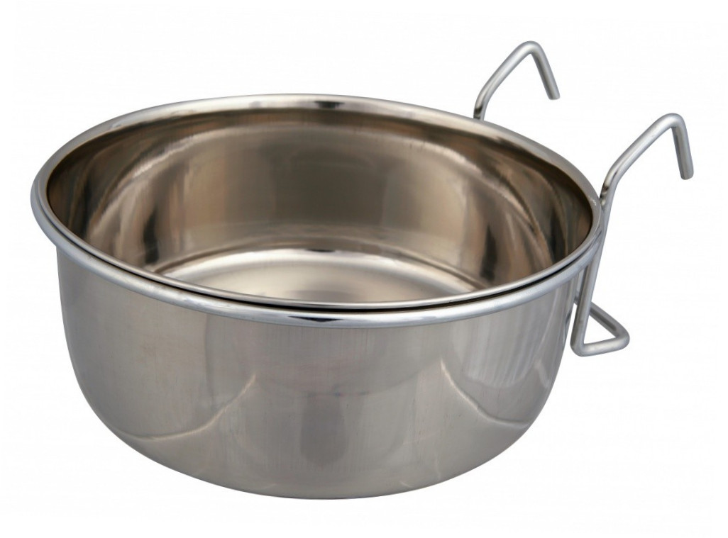 Trixie Stainless Steel Bowl with Holder  900 ml Hopea