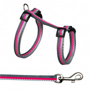Harness with Leash for Rabbits with Sewn-on Motif Strap 27-45x1 cm