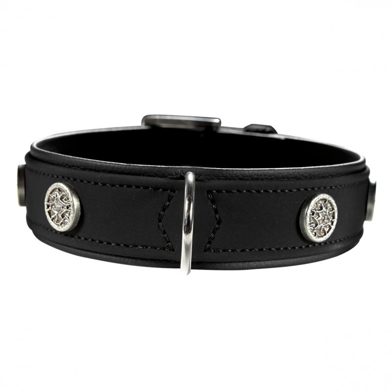 Hunter Collar Softie Athen Svart 36-44x3.5 cm
