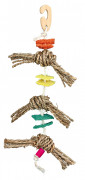 Natural Toy on a Sisal Rope with Luffa 43 cm
