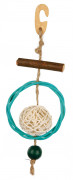 Trixie Natural Toy with Sisal Rope with Wicker 22 cm