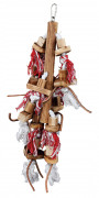 Trixie Wooden Toy with Leather Straps 45 cm