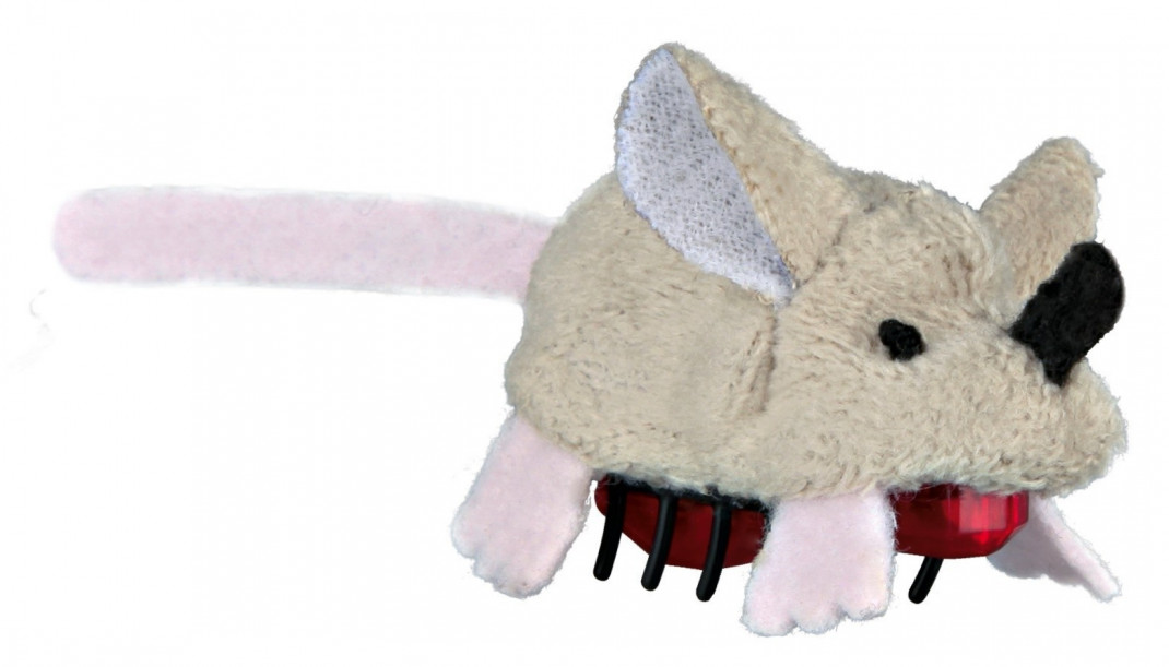 Trixie Running Mouse, Plush 5.5 cm