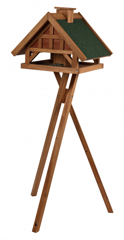 Trixie Natura Bird Feeder with Stand, of Pine Brown 54×40×48 cm