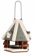Natura Hanging Bird Feeder, brown/white 36×35  cm