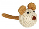 Mouse, paper yarn Beige