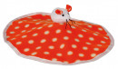 Rustling Mat with Plush Mouse, fleece 32x28 cm