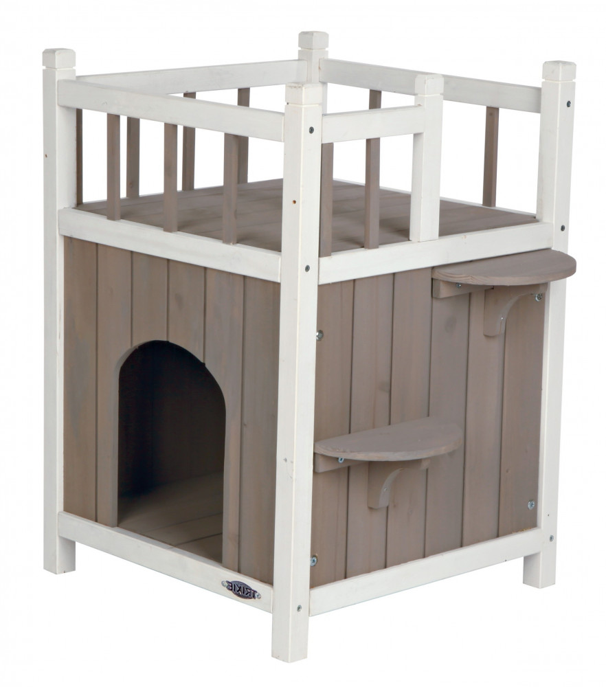 Trixie Natura Cat's Home with Balcony 45x65x45 cm  kjøp billig med rabatt