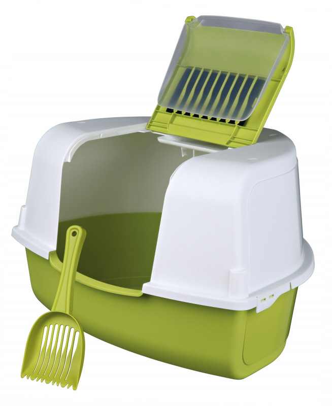 Trixie Tadeo Open Top Corner Litter Tray with Hood 58x38x50/50 cm  buy online