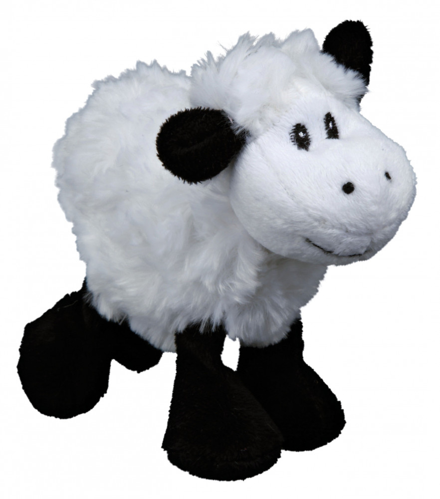 Trixie Sheep with Squeaker, Plush 14 cm