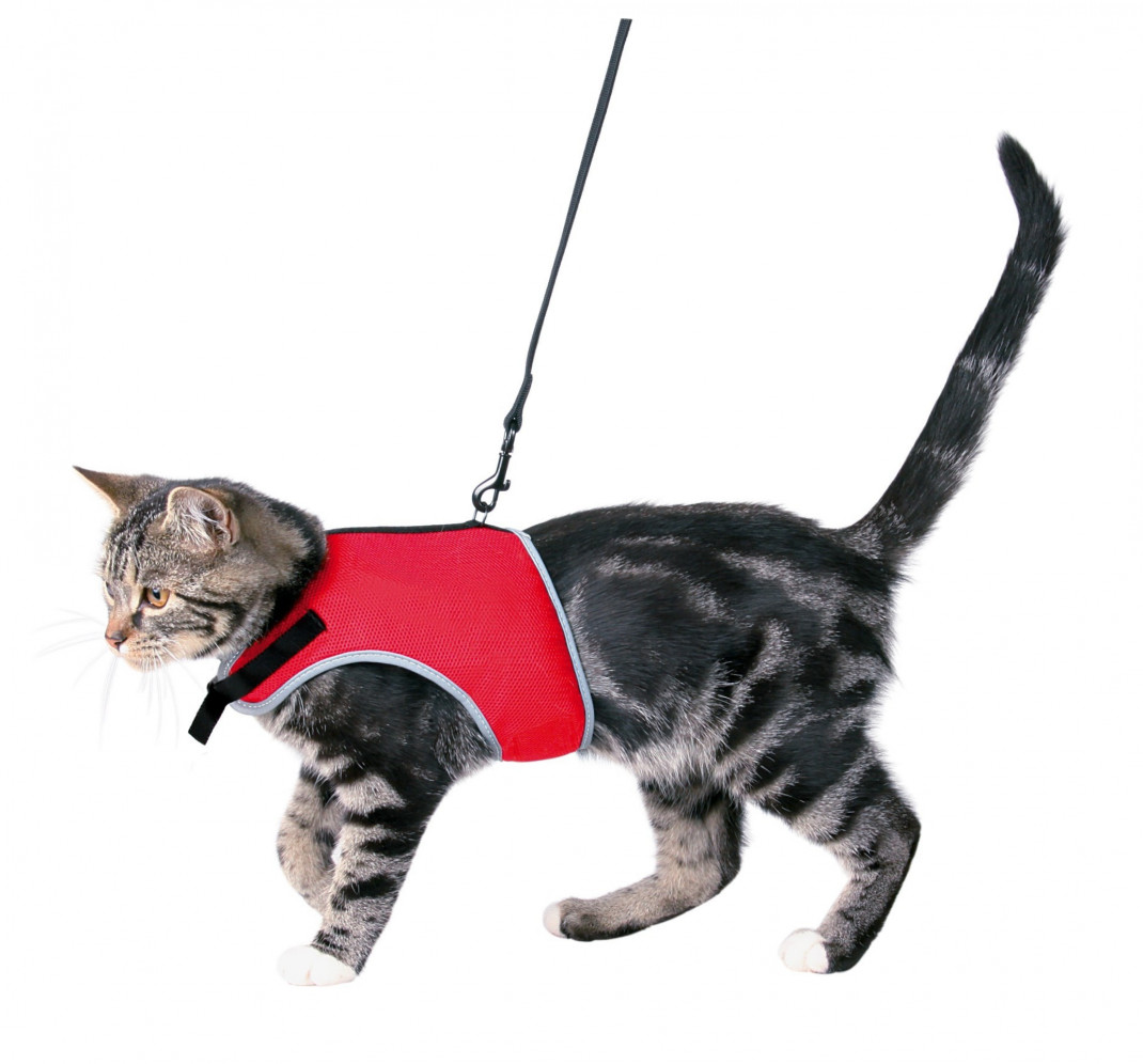 Trixie Cat Soft Harness with Leash  24-42 cm