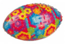 Trixie Rugby Ball TPR, Multi Colour 15 cm