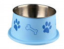 Trixie Long-Ear Bowl, Stainless Steel/Plastic 900 ml
