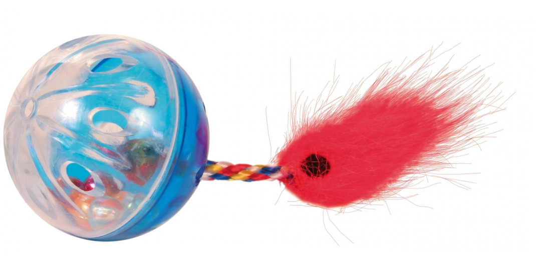 Trixie Set of Rattling Balls with Tails, Plastic 4 cm  buy online