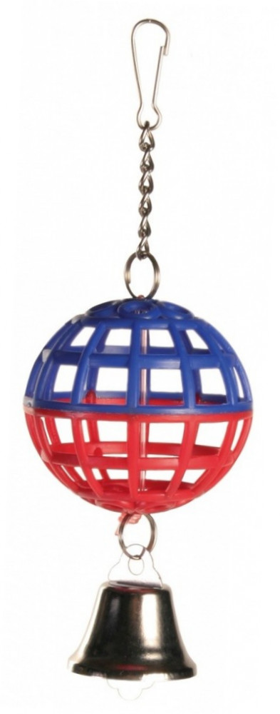 Trixie Lattice Ball with Chain and Bell 7 cm
