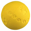Trixie Toy Ball Natural Rubber with Paw Print