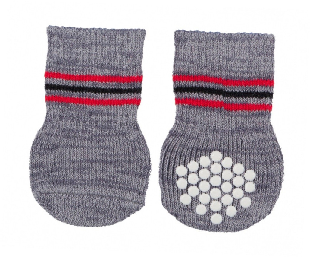 Trixie Dog Socks, grey XS-S  kjøp billig med rabatt