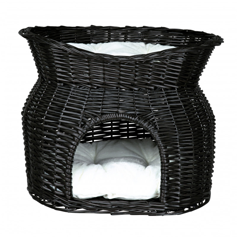 Trixie Wicker Cave with Bed and Cushions on Top  4047974028728 anmeldelser