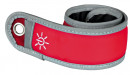 Flash Snap Band for Dog Walkers Red