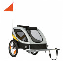 Trixie Bicycle Trailer Grey/Yellow/Black M