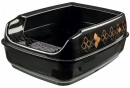 Trixie Delio Litter Tray, with Rim Black