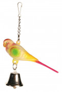 Trixie Toy Parakeet with Chain and Bell 9 cm
