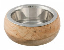 Stainless Steel Bowl with Wooden Holder Trixie
