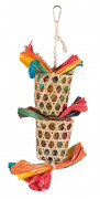 TrixieNatural Toy on a Sisal Rope Multicolor