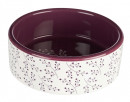 Trixie Ceramic Bowl, white/berry 300 ml kjøp toppkvalitet på nett