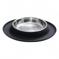 Cat Food Dish with Silicon Base Zwart