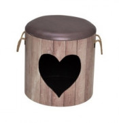 D&D Pet-Box Heart Dark brown
