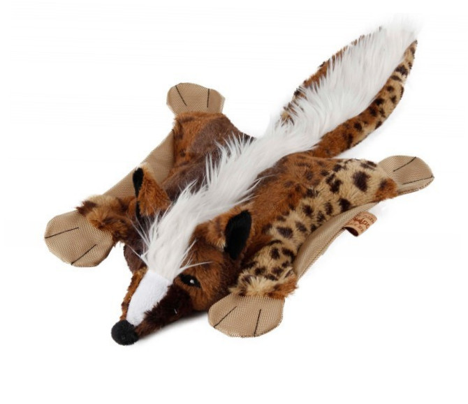 EBI Dog Toy Flatty Fox Fox  Marrón