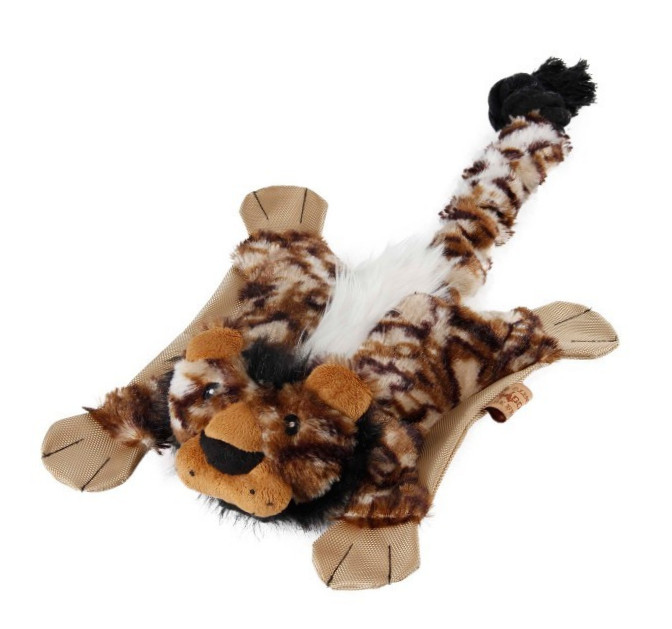 EBI Dog Toy Flatty Lion  Lion  Marrón