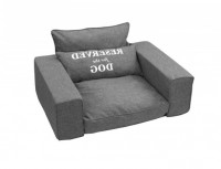 D&D Homecollection Reserved - Pet-Sofa grey Gris oscuro