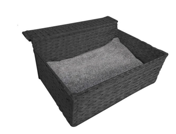 EBI Radiator Bed Cloud Nine black-paper-rope  Sort 47x40x20 cm