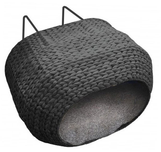 EBI Radiator Bed Sunrise black-paper-rope 47x40x20 cm