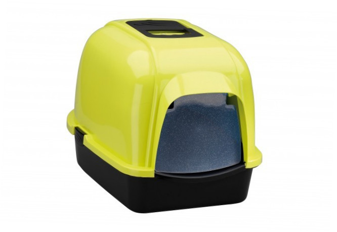 Europet-Bernina Cat House Eclipse 60 - M - Lime Splash Color Lime