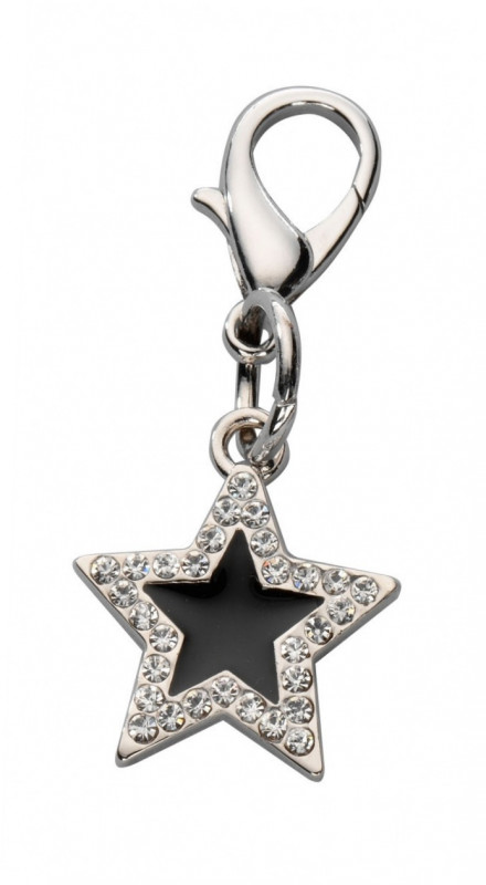Europet-Bernina Anhänger Lucky Star Czech Crystal Schwarz