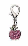 Pendant Apple - Czech Crystal Hot pink