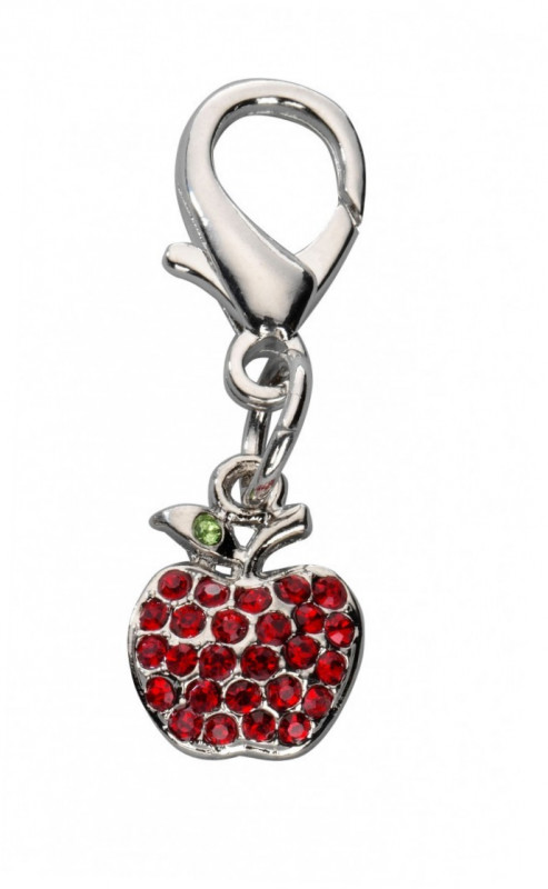 Europet-Bernina Colgante Apple Czech Crystal  Rojo